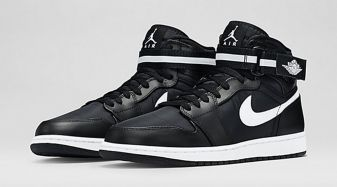 98436929af9166 Black and White Covers This Air Jordan 1 High Strap