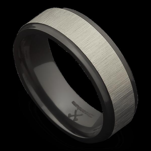 The Lee Dark Grey Weddings Black Zirconium Black Rings