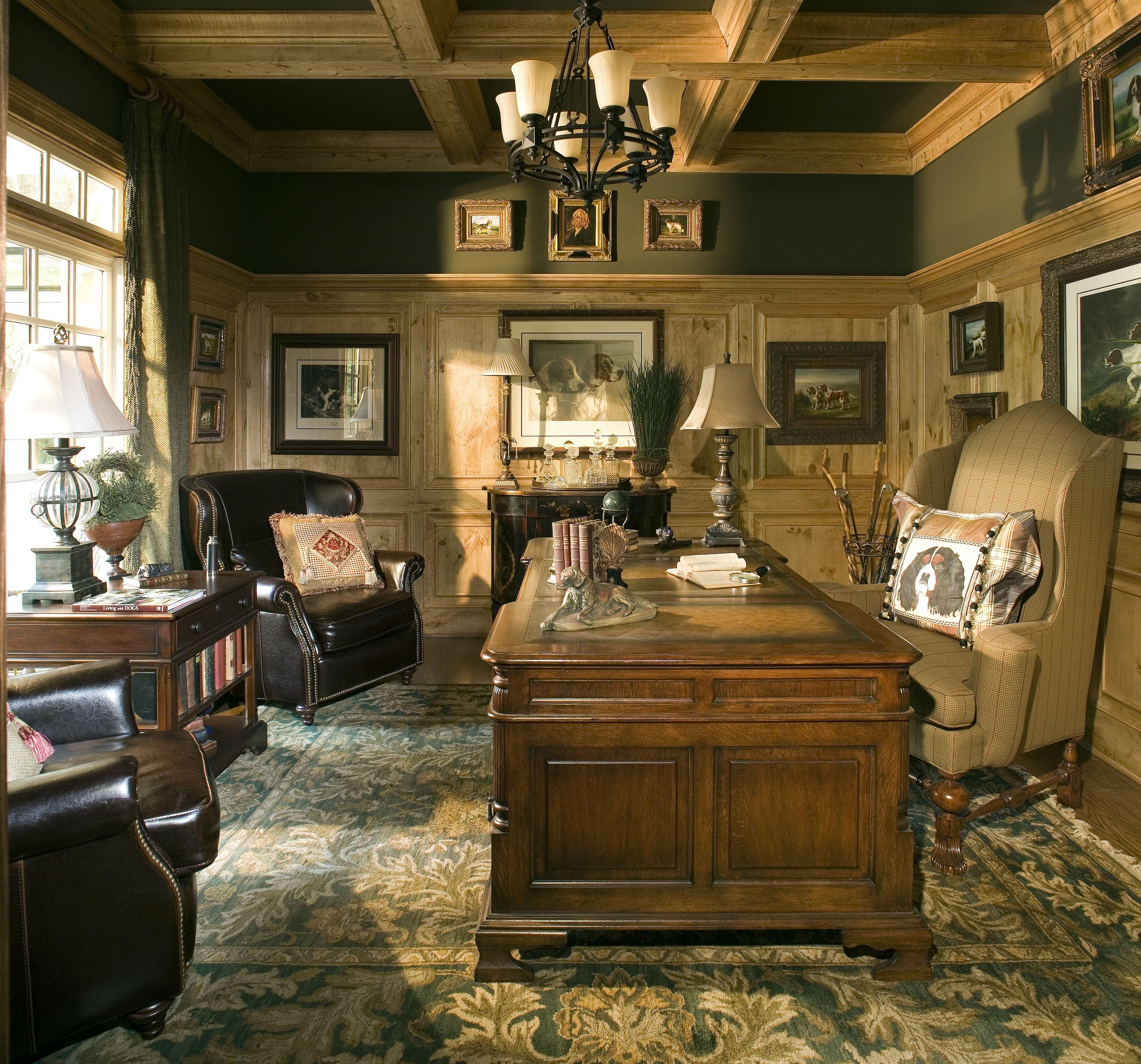 Can I Paint the Dark Wood Paneling? | Dark wood desk, Large area ...