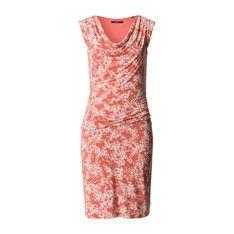 Print-Kleid aus Viskosejersey summer peach