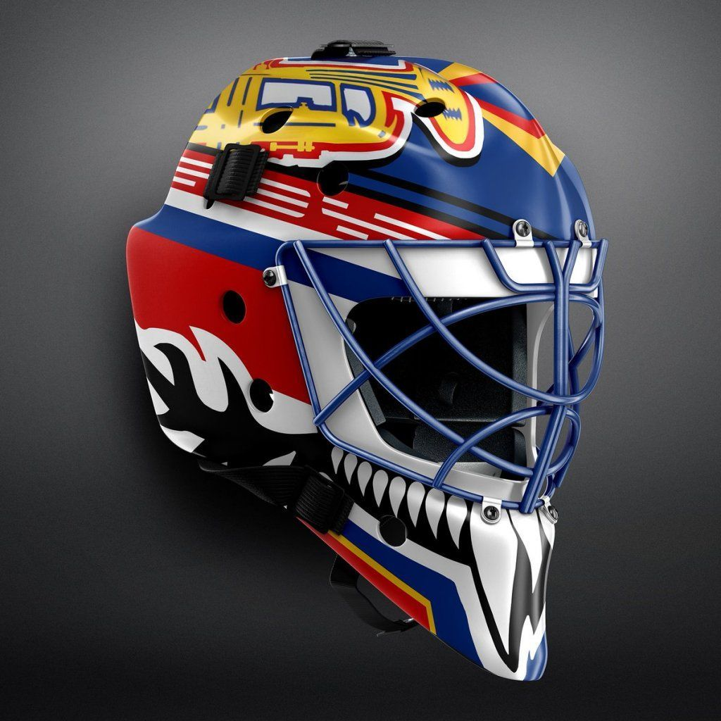 RadKern from Twitter created this goalie mask. What do you