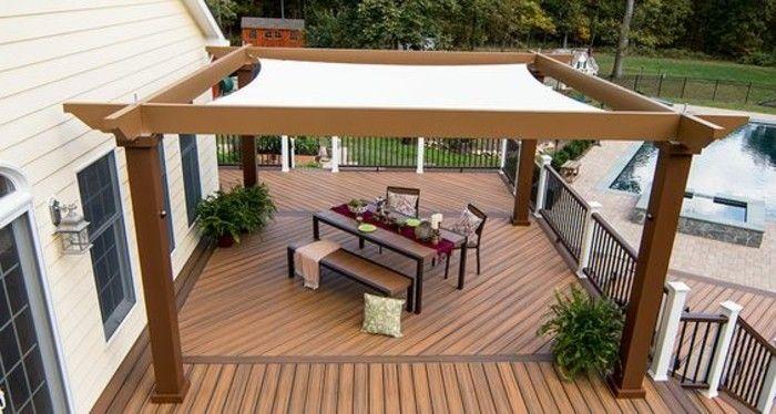 pergola mit sonnensegel eine absolute wohlf hlgarantie pergola mit markise o. Black Bedroom Furniture Sets. Home Design Ideas