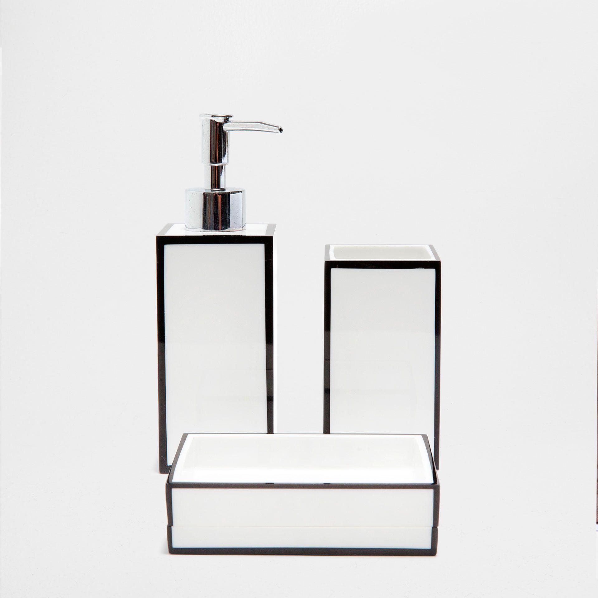 BLACK AND WHITE BATHROOM SET | bathroom accessories set | Pinterest ...