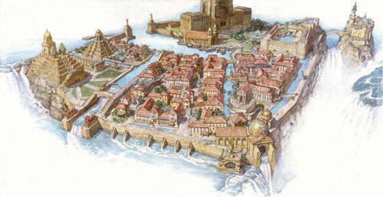 Dinotopia Waterfall City Minecraft Project The Lost Worlds - Minecraft dinotopia spielen