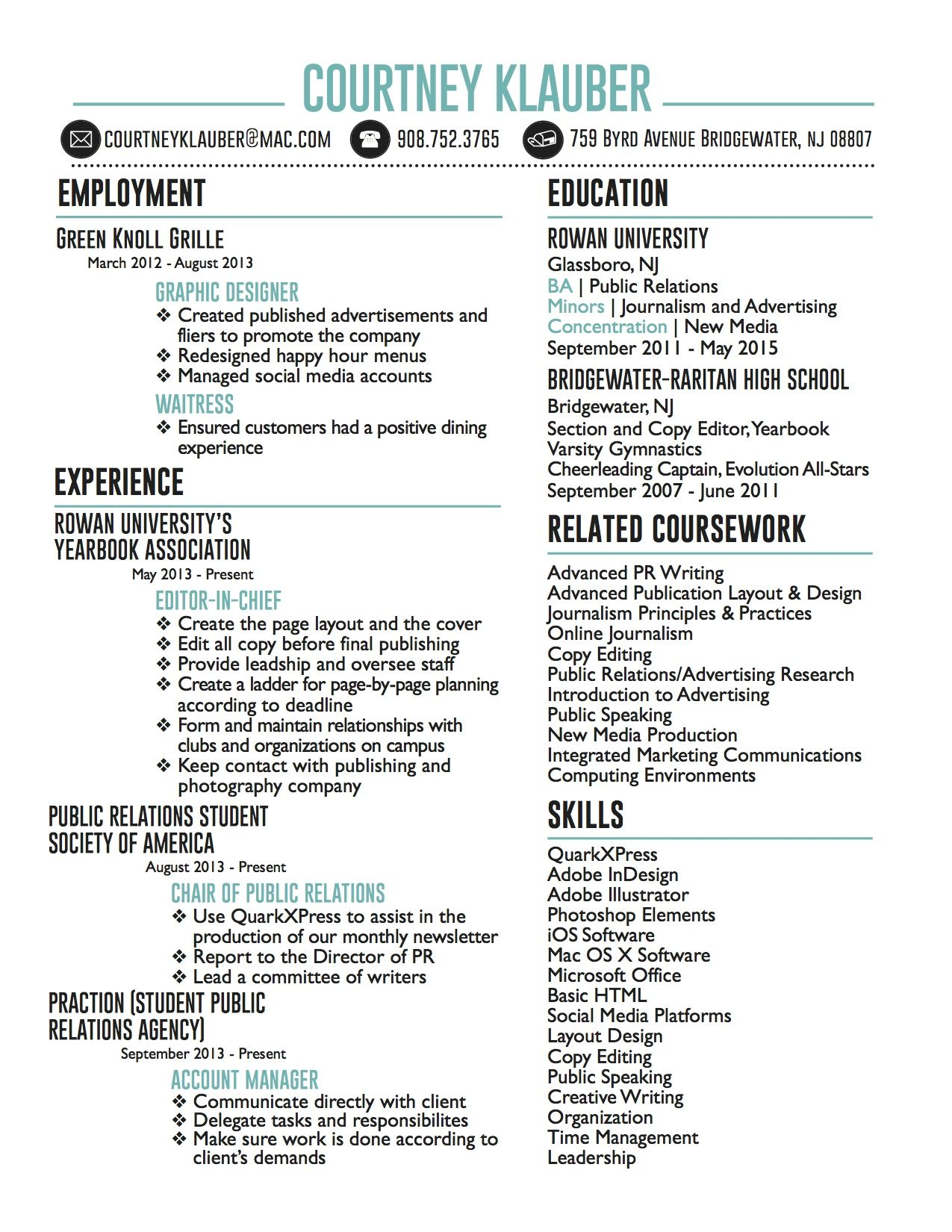 Creative Resume Jpg 1275 1650 Smm Pinterest