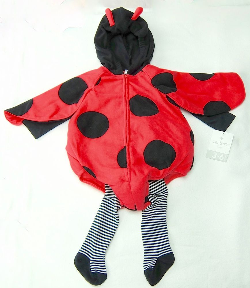 78d083741 Girls Ladybug Halloween Costume Three Piece Outfit Carters Size 6-9 Months…