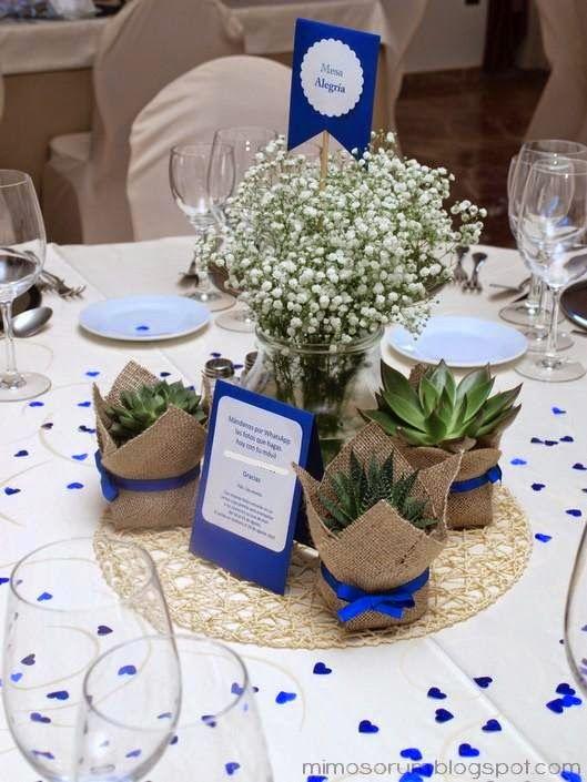 Mimosorum centros de mesa con plantas naturales for Casas decoradas con plantas naturales
