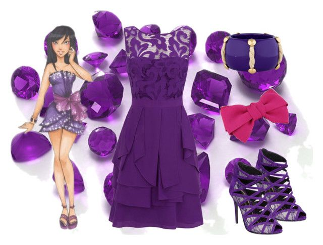 """Miss Violet"" by ladynightmare ❤ liked on Polyvore featuring Disney, Enzo Angiolini, Coast, Cuteberry and Louis Vuitton"