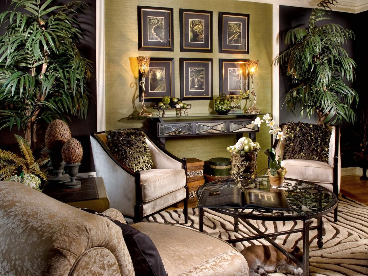 Jungle Themed Living Room  Safari living rooms, African living