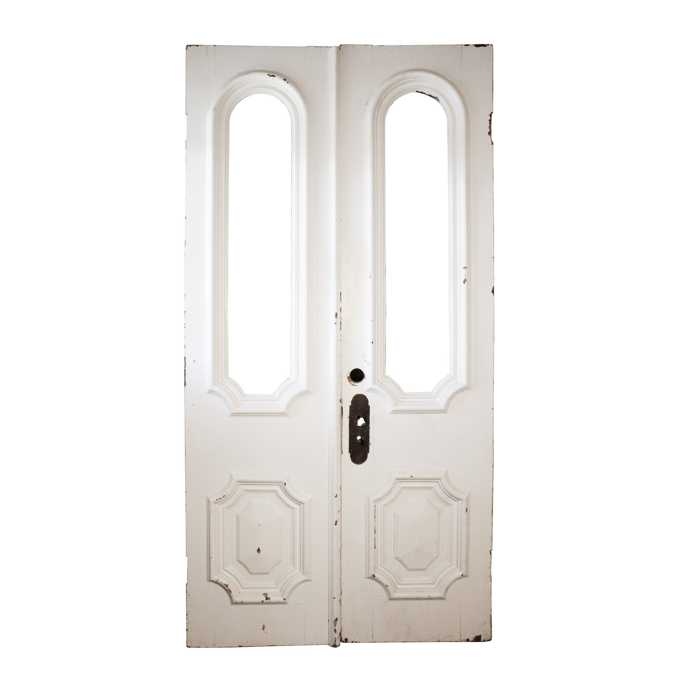 Impressive Pair of Salvaged Double Doors with Arched Lights c. 1880 - Preservation Station  sc 1 st  Pinterest & Impressive Pair of Salvaged Double Doors with Arched Lights c ...