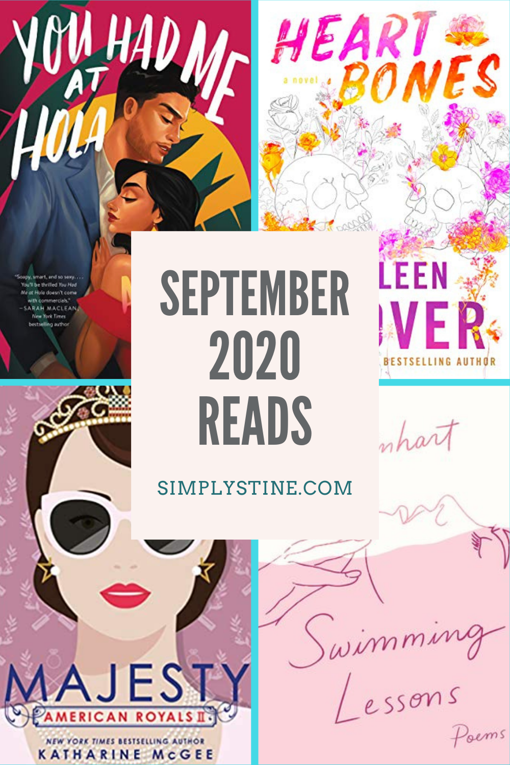 Sharing my September 2020 Reading List and the books that I chose for my October Book Club #Books #ReadingList #BookClub #LiliReinhart #AGoodMarriage #Thriller