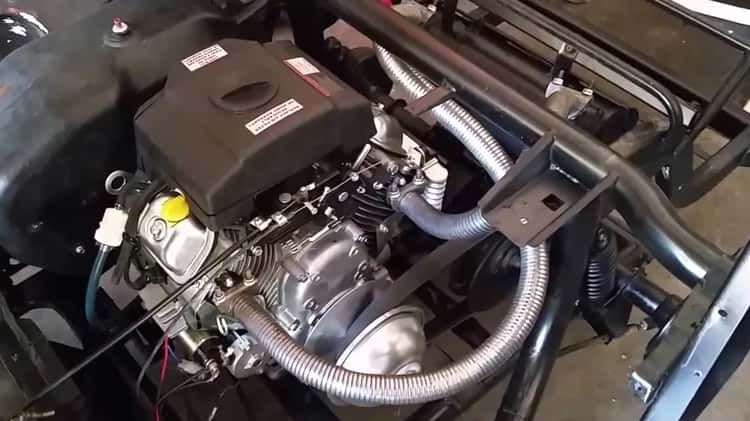 Yamaha G2 Golf Cart With Predator 670 Engine First Run Yamaha Golf Carts Golf Carts Golf Cart Batteries
