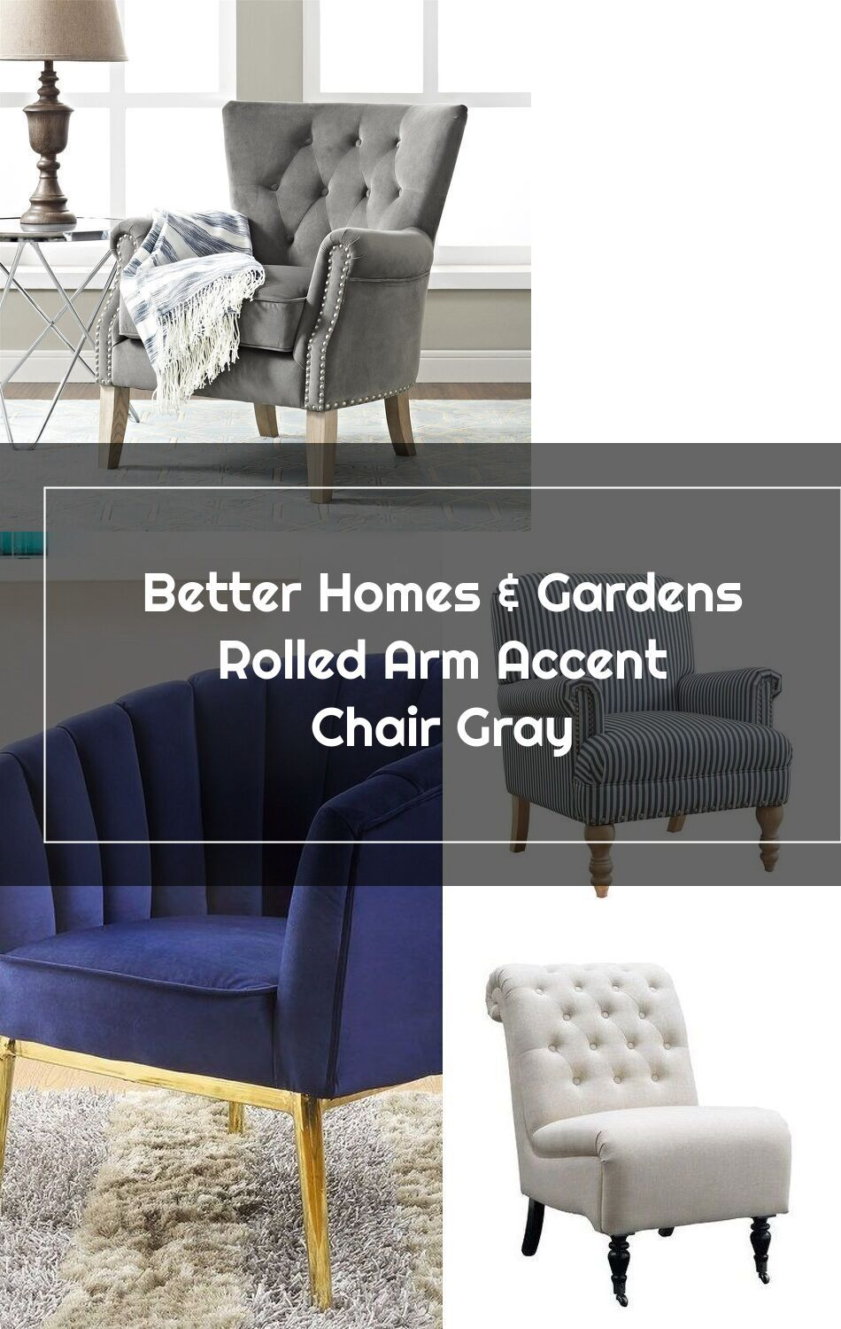 dd6e5ad77e73c50e78c8d048194a2e0c - Better Homes And Gardens Rolled Arm Accent Chair Gray