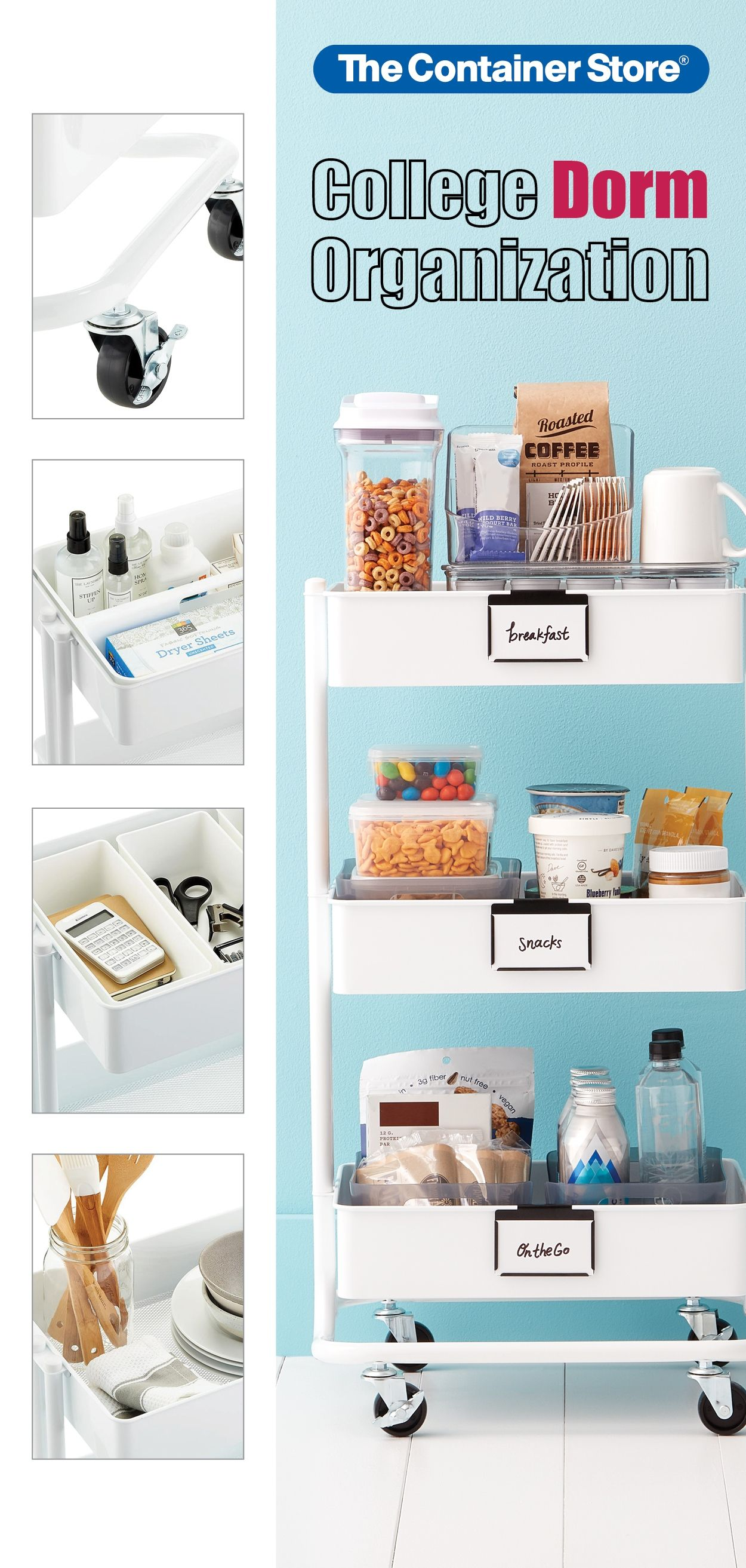 Find Dozens Of College Dorm Kitchen Bathroom Closet Desk Makeup And Jewelry Storage Solutions Her In 2020 Dorm Organization College Dorm Organization Dorm Kitchen