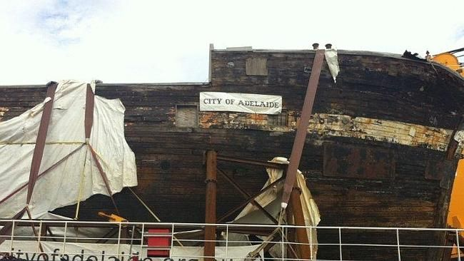 The City of Adelaide clipper ship is finally docked at Berth 18 at Port Adelaide.