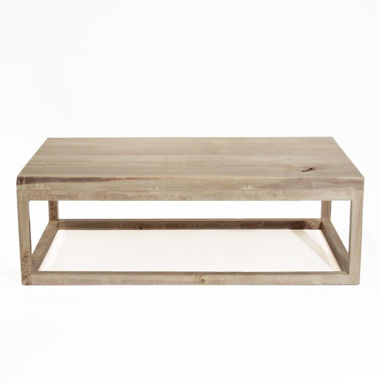 The Basic Coffee Table In Bleached Walnut With Live Edges By