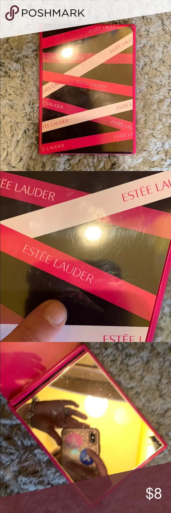 ESTÉE LAUDER MAKEUP MIRROR Excellent used condition pink purple and white ESTEE…