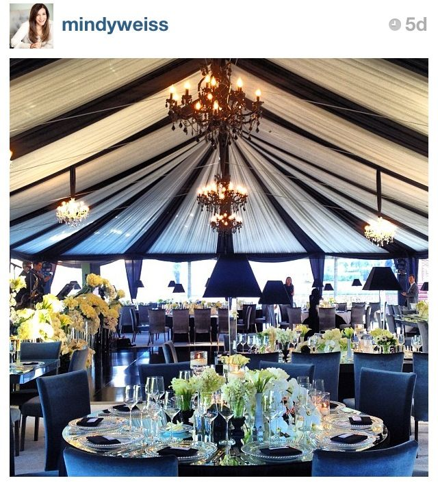 Black and White.incredible marquee and table designs. This is a perfectly styled wedding! Love the black chandeliers and the l&s on the tables - ties in ... & Mindy Weiss wedding | Event Decor u0026 Design | Pinterest | Tents ...