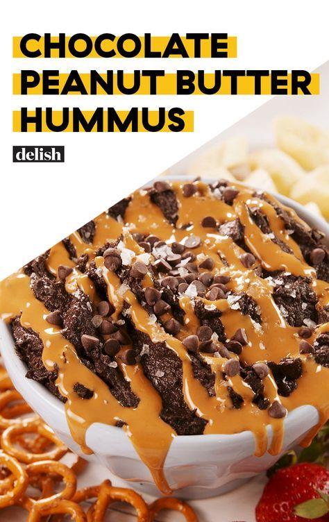 Chocolate Peanut Butter Hummus #desserthummus