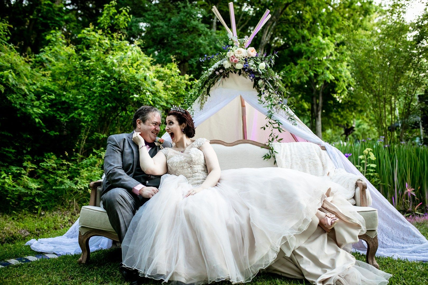 So much magic at this butterfly themed wedding in a