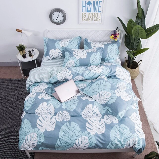 Photo of Luxury Simple White Cloud Linen Bedding Set