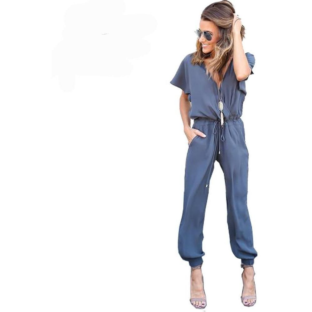88830f9dc36 A retro-inspired jumpsuit featuring a cinched waist