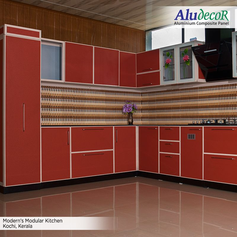 Modern S Modular Kitchen Showcase Design Paneling Design