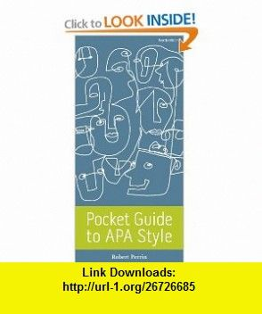 pocket guide to apa style 9780495912637 robert perrin isbn 10 rh pinterest com pocket guide to apa style perrin 5th edition APA Style Template Word 2010