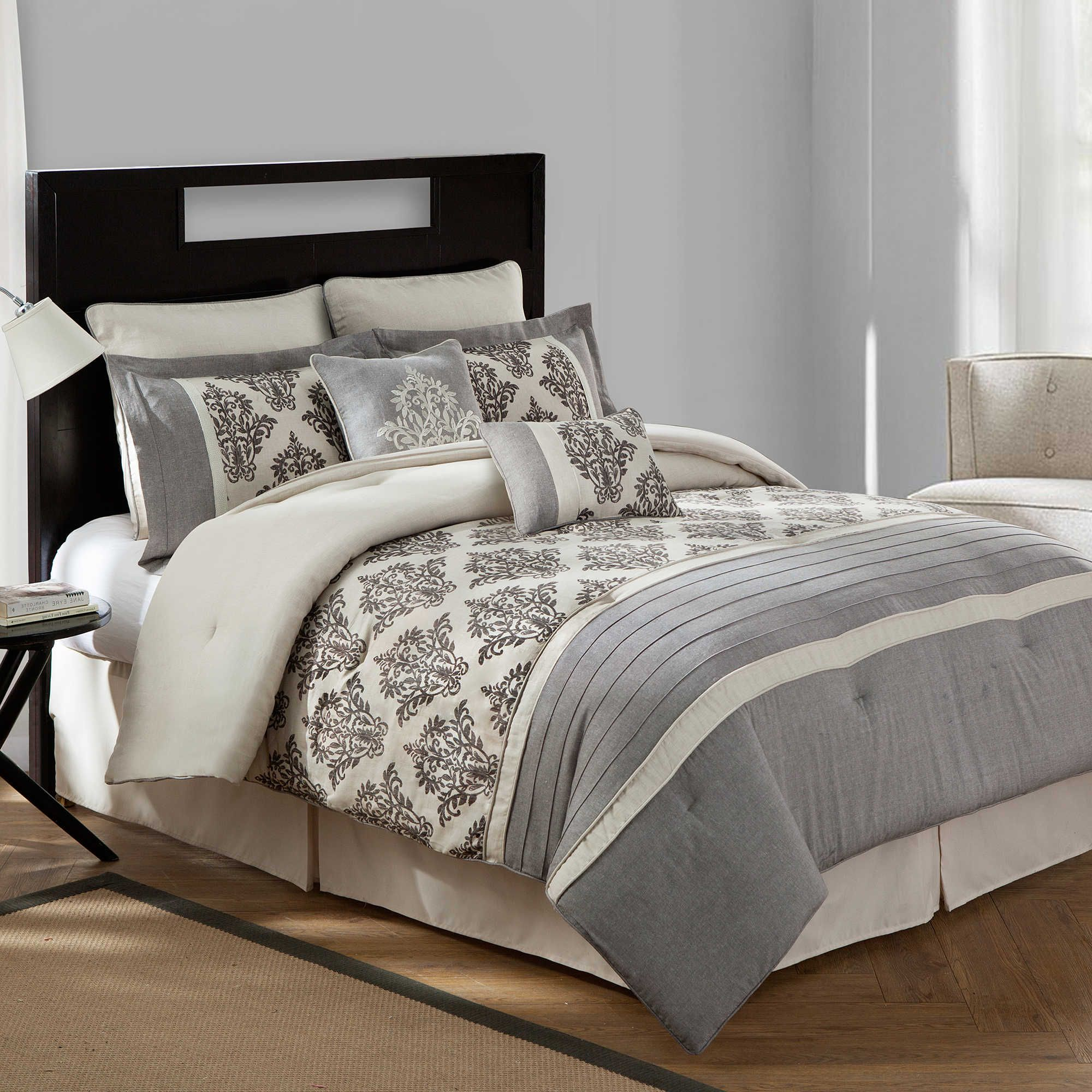 comforter bedding linens to set taupe waterford click by p hazeldene light expand linen