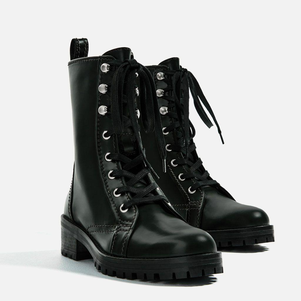 Señoras para mujer tipo Con Tachas Hebilla Punk Militar Botas Zapatos Tacón Bajo Cremallera