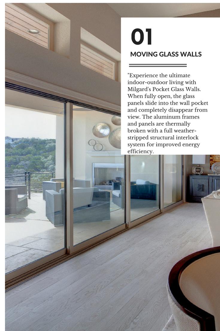 Experience The Ultimate Indoor Outdoor Living With Milgard S Pocket Glass Walls When Fully Open The G Exterior Doors With Glass Glass Door Sliding Glass Door