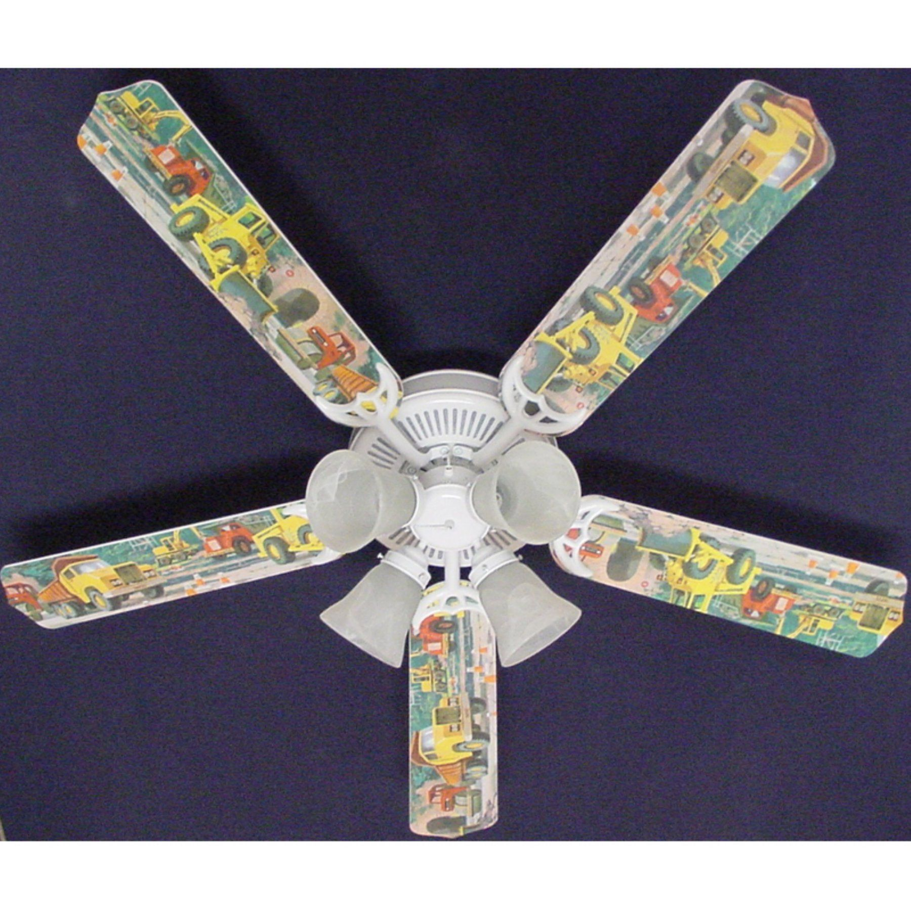Ceiling Fan Designers Construction Dump Trucks Indoor Ceiling Fan