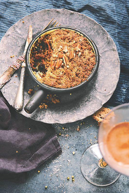 crumble sal aux l gumes d 39 hiver noix de p can recette. Black Bedroom Furniture Sets. Home Design Ideas