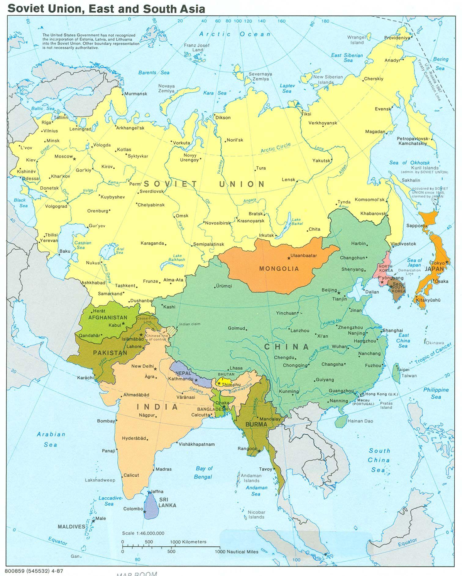 Soviet Union East and South Asia World of Maps Pinterest