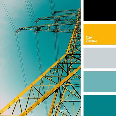 Color, Farbpalette, türkis, gelb ◇ Colours ÷ FarbPaletten - wohnzimmer blau turkis