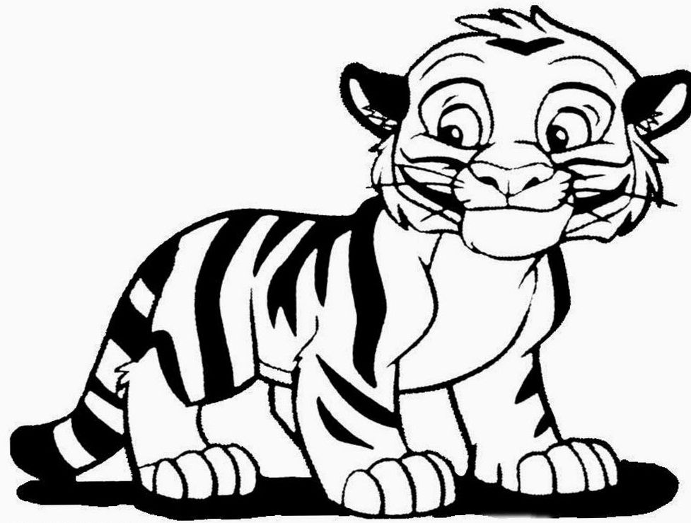 small cute tiger coloring pages for kids printable lions and tigers coloring pages for kids - Coloring Pages Tigers Lions