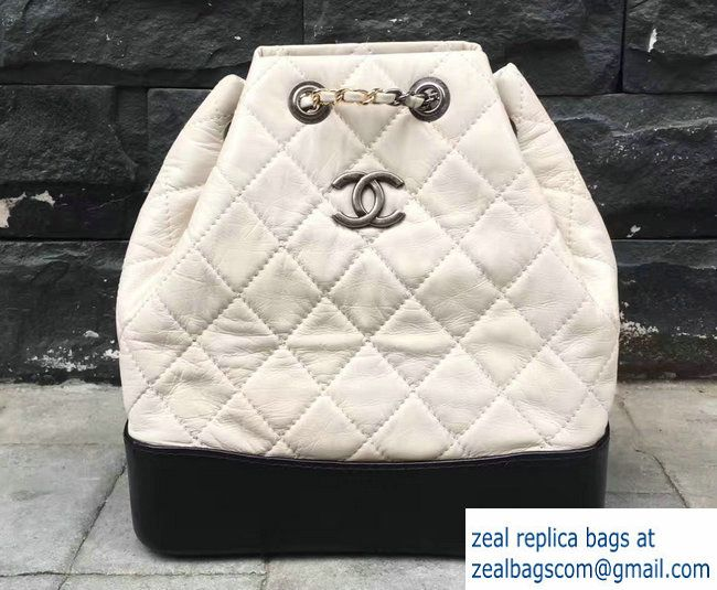 1116c502ddbe Chanel Gabrielle Backpack Bag A94485 Black/White 2017 | Luxury Bags ...