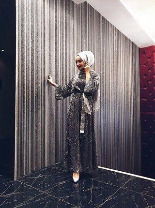 Pailletten Pailletten Kleid   – elbise abiye