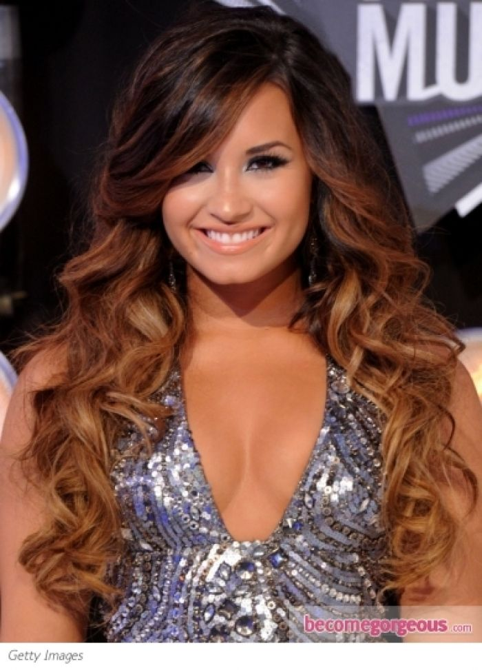 demi lovato brown hair photos demi lovato s hairstyle at