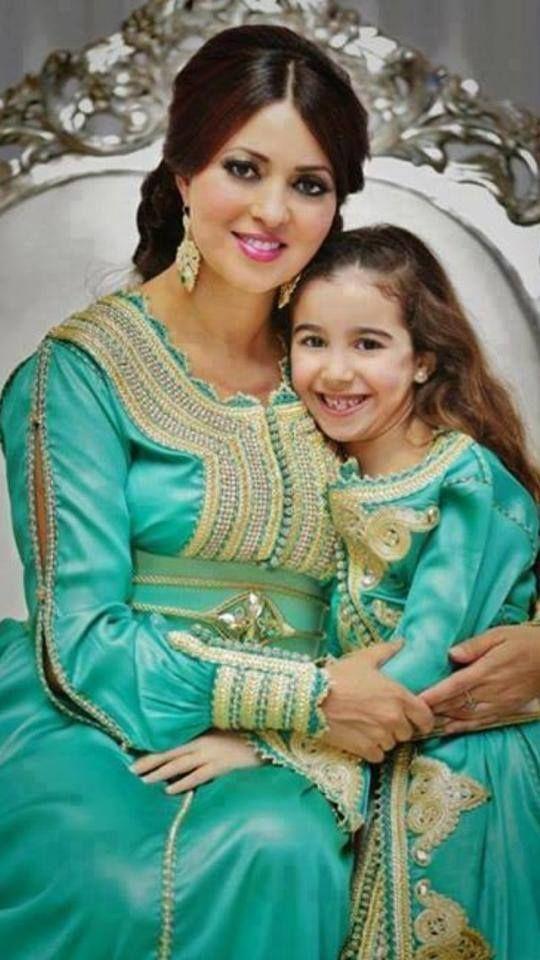 Robe marocaine mere fille
