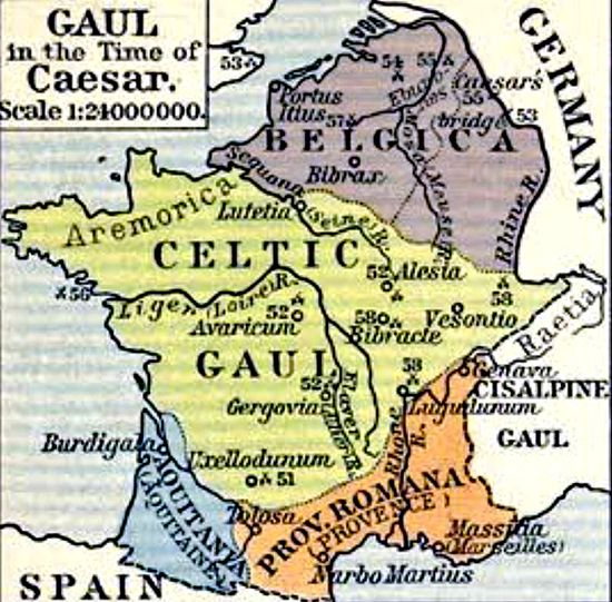 Historical Map of Gaul in the Time of Caesar | Olde Maps ... on julius caesar, dacia map, roman republic, hadrian's wall map, roman legion, numidia on a map, iberian peninsula map, thrace map, england map, sparta map, ancient rome, visigoths map, macedonia map, mark antony, battle of alesia, spain map, huns map, cisalpine gaul, hispania map, iberian peninsula, gallic empire, byzantine empire map, alexandria map, sicily map, gallic wars, greece map, carolingian dynasty, zama map, pyrenees map, decline of the roman empire, constantinople map, athens map,
