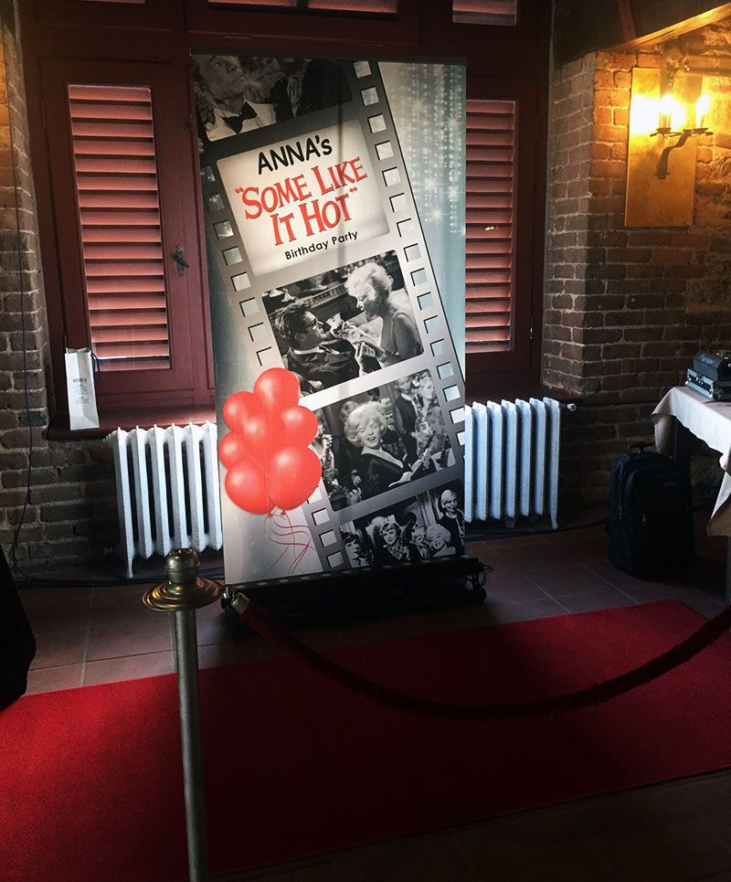Some Like It Hot Marilyn Monroe Movie Themed Birthday Parties Party Ideas Photo Props Movie Quotes Red Carpet Photo Booth Dogum Gunu Parti Doga