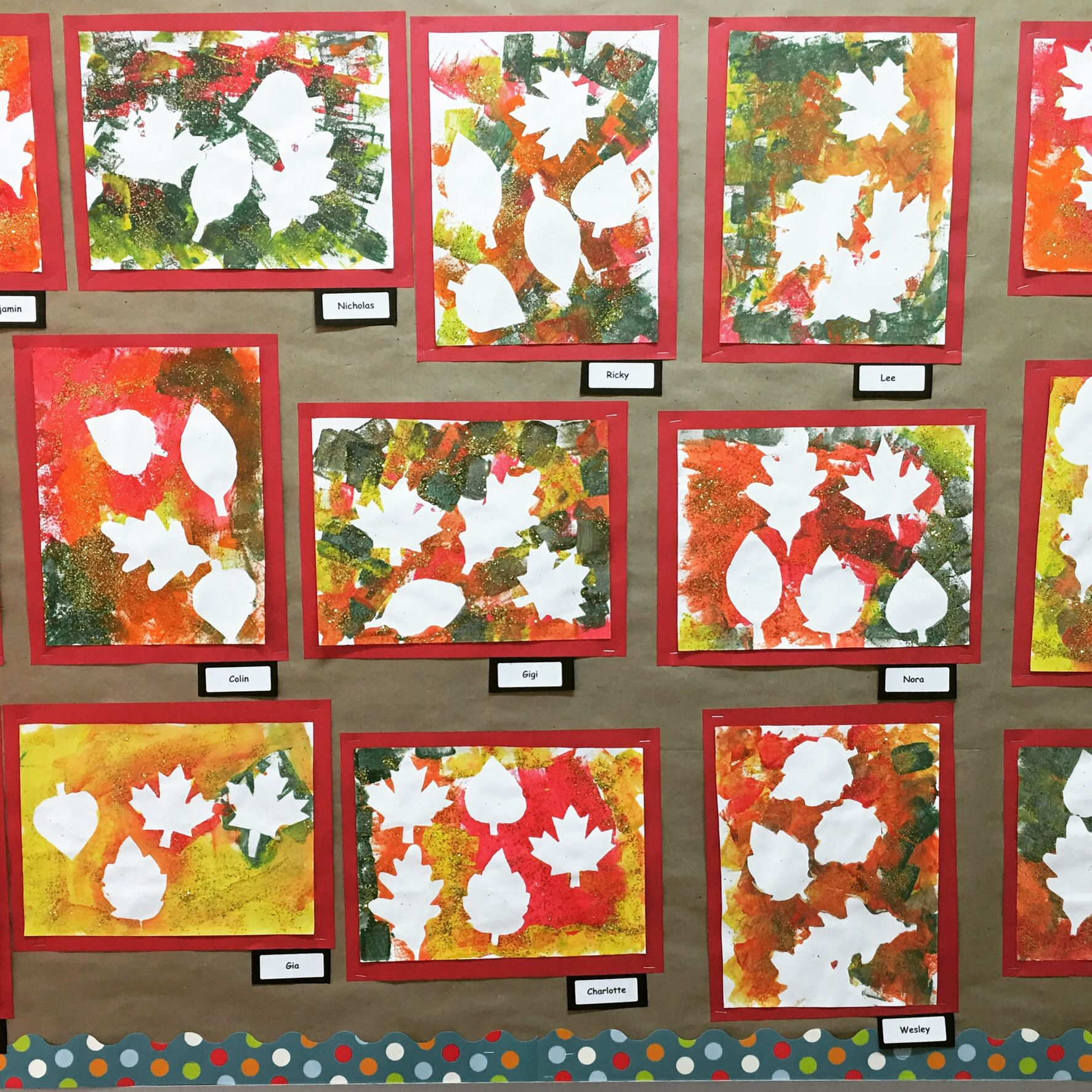 Fall Leaves Negativespace Preschoolart With Images