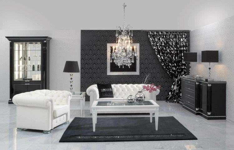 Décoration intérieur salon blanc  48 idées de déco moderne Salle