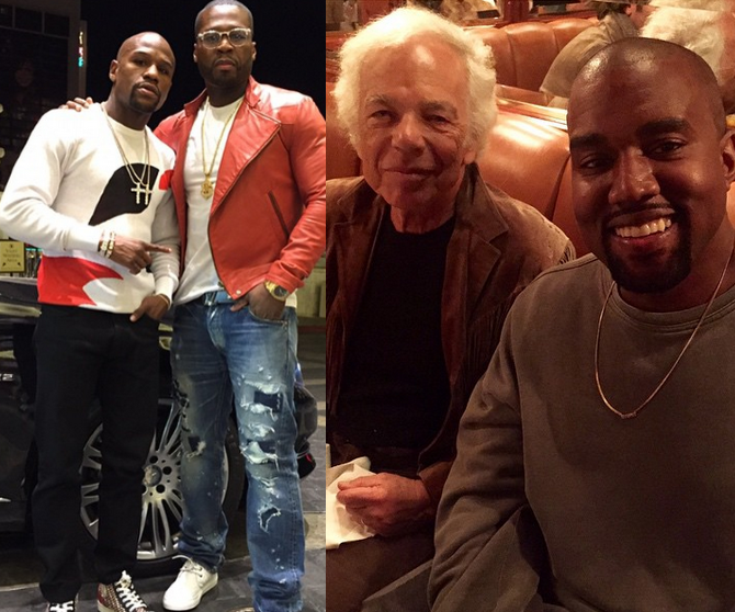 Floyd Mayweather Is Friends With 50 Cent Again Kanye West Dines With Ralph Lauren Flotus Gets An Age Compliment From A Kid Floyd Mayweather Kanye West Celebrity Pictures