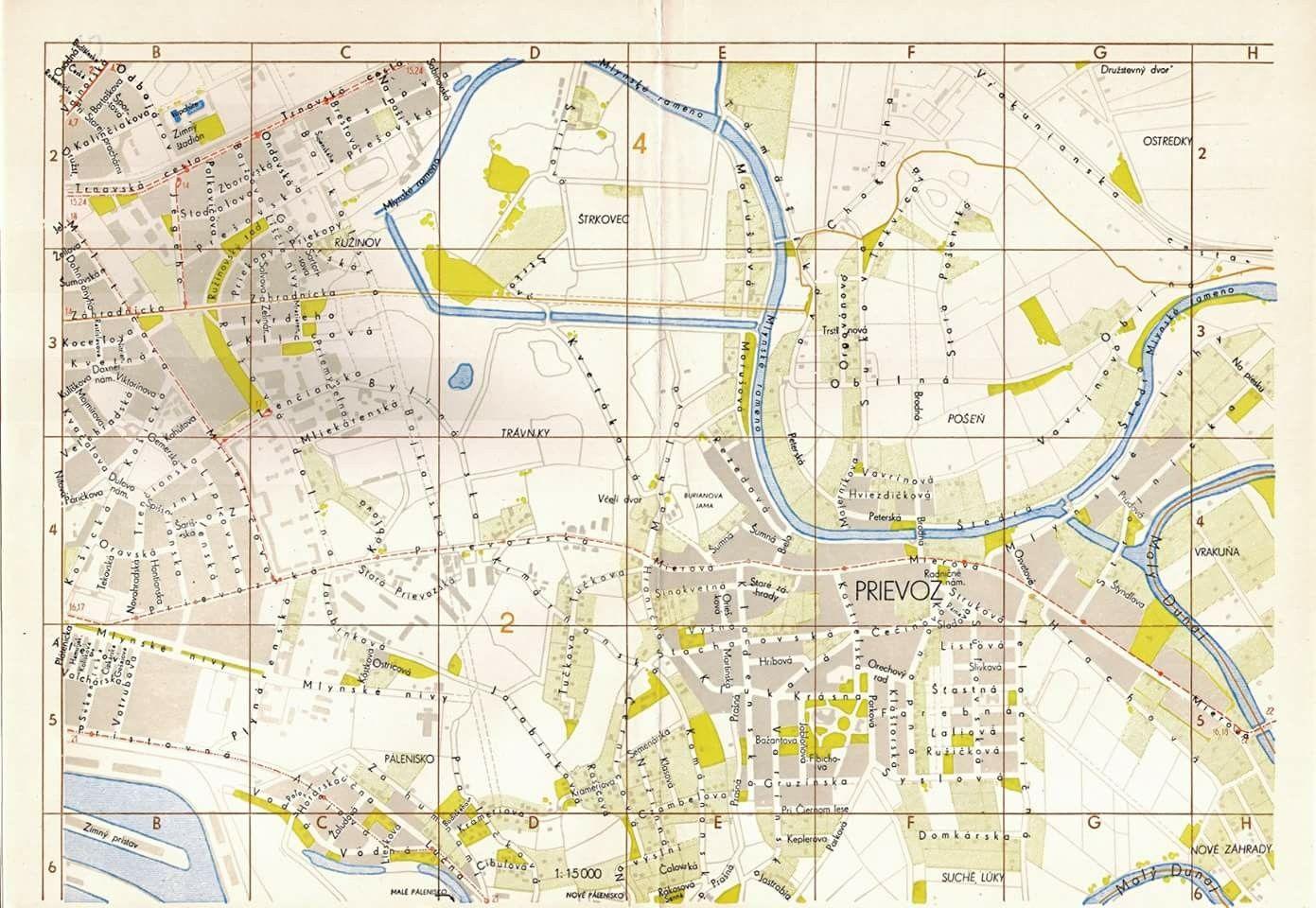 Mapa Prievozu Rok 1959