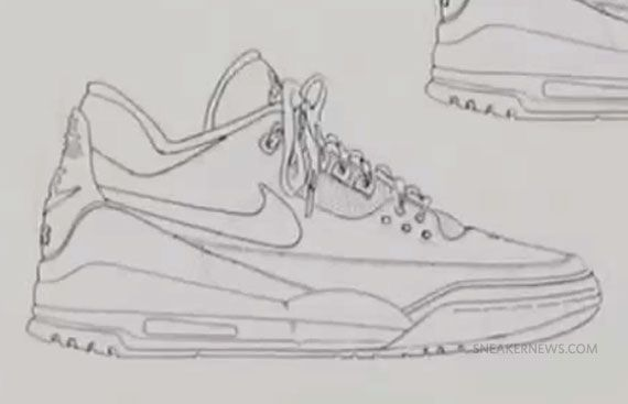 Tinker Hatfield - Air Jordan Concept Sketch