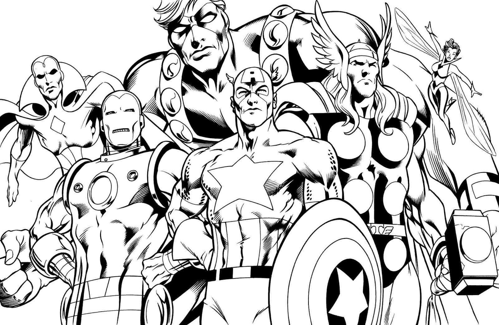 Avengers age of Ultron coloring pages | Desenhos para ...