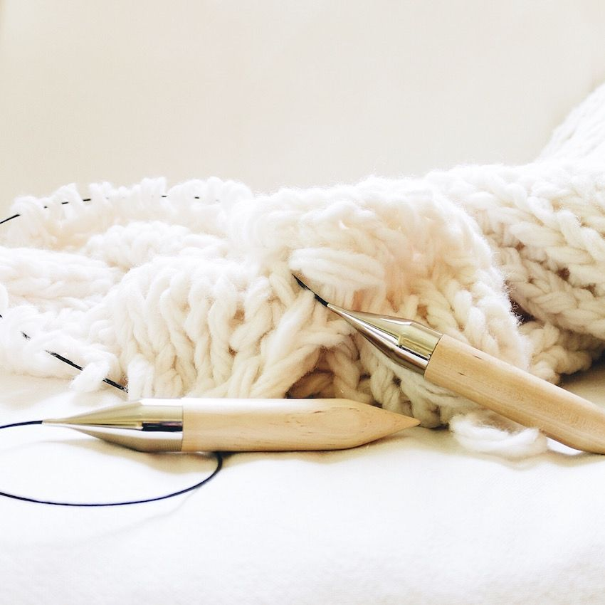 Birch circular knitting needles | Chunky wool, Wool blanket and Blanket