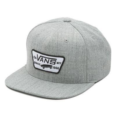 768cc175d5 Full Patch Snapback Hat QPUHTG Heather Grey  Vans